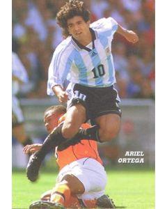 1998 World Cup in France Ariel Ortega postcard