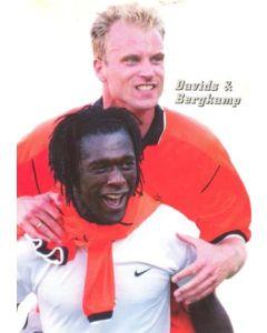 1998 World Cup in France Davis & Bergkamp postcard