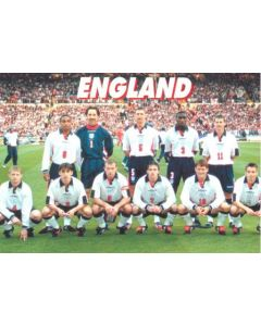 1998 World Cup in France England Team postcard