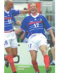 1998 World Cup in France - Franck Leboeuf & Emmanuel Petit postcard