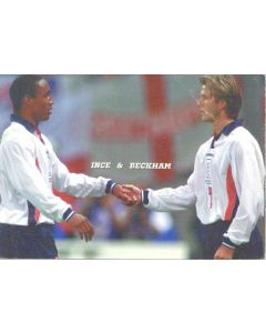 1998 World Cup in France Ince & Beckham postcard