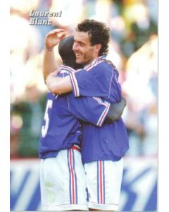 1998 World Cup in France Laurent Blanc postcard