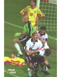 1998 World Cup in France Owen Goal postcard