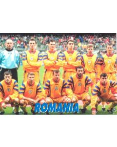 1998 World Cup in France - Romania Team postcard