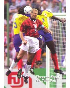 1998 World Cup in France Shearer Fight for the Ball postcard