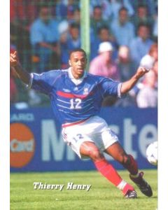 1998 World Cup in France - Thierry Henry postcard