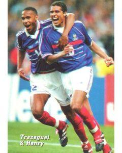 1998 World Cup in France Trezeguet & Henry postcard
