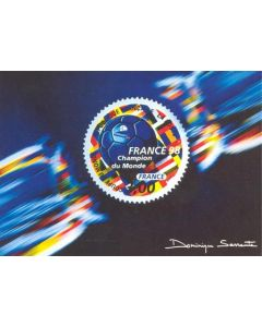 1998 World Cup in France official postcard