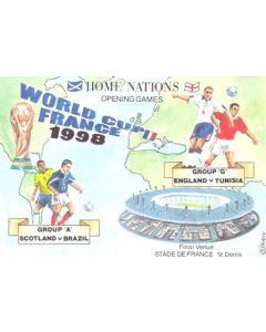 1998 World Cup in France Group A Scotland v Brazil postcard