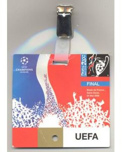 2000 Champions League Final VIP pass
