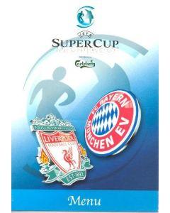 2001 Super Cup Monaco Menu