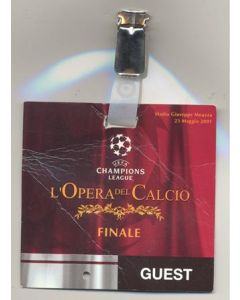 2001 Champions League Final VIP pass