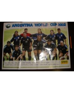 2002 World Cup Argentina Large Colour Poster
