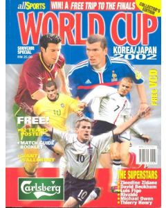 2002 World Cup magazine Collector's Edition with a Wallchart of the games poster and a poster with team photos of most teams