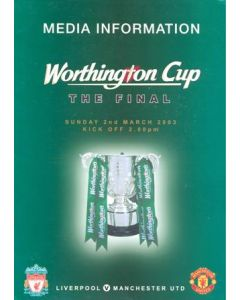 2003 League Cup Final press pack Worthington Cup Final