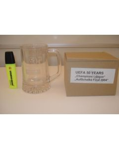 UEFA 50 Years Champions League Auf Schalke Final 2004 beer glass