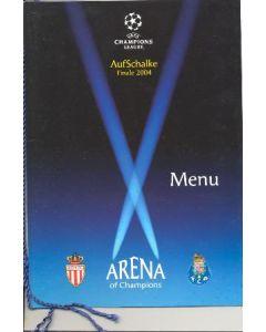 2004 Champions League Final Menu