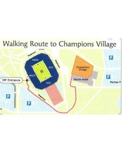 2004 UEFA Cup Final Walking Route to the Champions Village map card