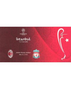 2005 Champions League Final Milan v Liverpool postcard 25/05/2005 in Istanbul