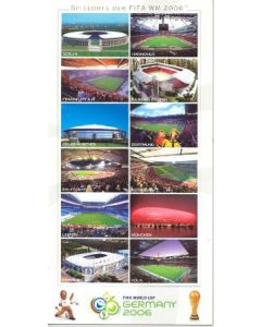2006 World Cup Germany Stadiums postcard, featuring 12 stadiums
