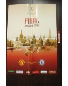 2008 Champions League Final in Moscow poster