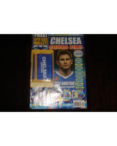 Chelsea Squad File multi poster magazine with a Chelsea Super Blues souvenir purse of Season 2004-2005