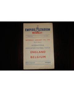 1946 England v Belgium official programme 19/01/1946