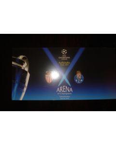 2004 Champions League Cup Final postcard Monaco v Porto