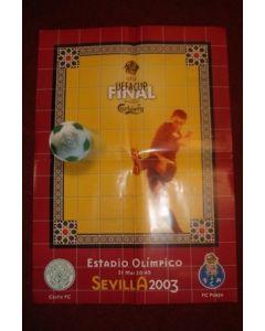 2003 UEFA Cup Final poster Sevilla 21/05/2003