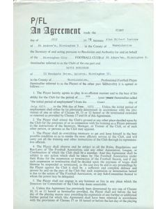 Contract between Birmingham City FC and Alan Gilbert Instone, originally signed by both sides