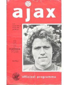 1975 Ajax v AZ'67 official programme 20/08/1975