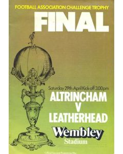 1978 Altricham v Leatherhead official programme 29/04/1978 FA Challenge Trophy Competition Final at Wembley