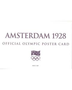 Amsterdam 1928 Official Olympic Poster Card