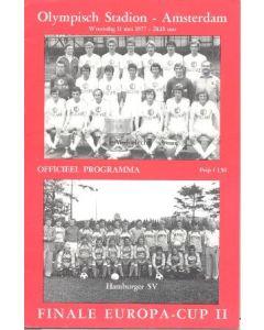 1977 Anderlecht v Hamburg official programme 11/05/1977 European Cup Final