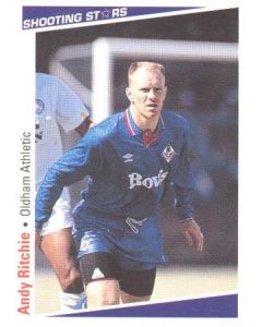 Andy Ritchie Oldham Athletic Shooting Stars Card