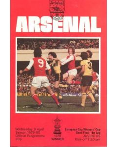 1980 European Cup Winners Cup Semi-Final Arsenal v Juventus official programme 09/04/1980