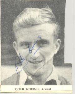 Arsenal - Peter Goring Signed Newspaper Cutting Photograph