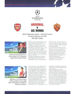 Arsenal v Roma Press Pack in English 24/02/2009