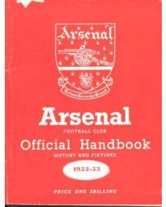 Arsenal official handbook 1952-1953