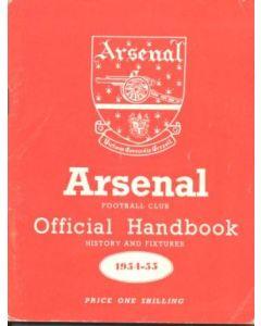 Arsenal official handbook 1954-1955
