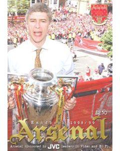 Arsenal official handbook 1998-1999