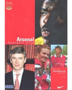 Arsenal official handbook 1999-2000