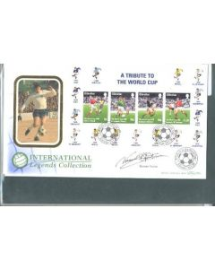 A Tribute to The World Cup Gibraltar First Day Cover 23/01/1998, originally signed by Norman Hunter