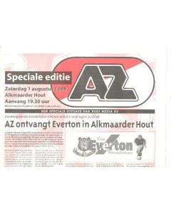 AZ Select v Everton AZ newspaper special edition 01/08/1998