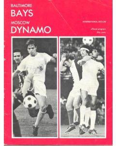 1972 Baltimore Bays v Moscow Dynamo official programme