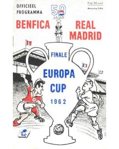 1962 European Cup Final Benfica v Real Madrid official programme