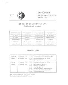 Bierbeek Youth Tournament August 1996 press pack