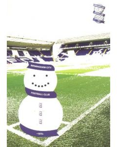 Birmingham City FC Christmas greetings card with facsimile signatures of the entire team