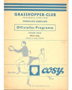 1960 Blue Stars - Radid Lugano v Grasshoppers - Lausanne Sports official programme 29/05/1960
