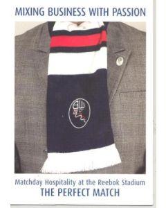 Bolton Wanderers card of season 2003-2004